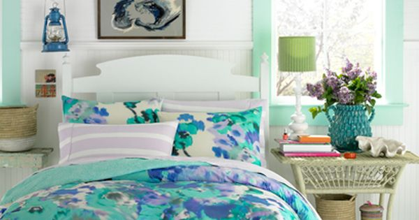 Teen Vogue Bedding: Watercolor Garden Bedding Set. Absolutely Love The Color Combination In This