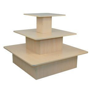 Maple 3 Tier Square Display Tables T Sq M Firefly Solutions Retail Display Diy Furniture Redo Store Decor