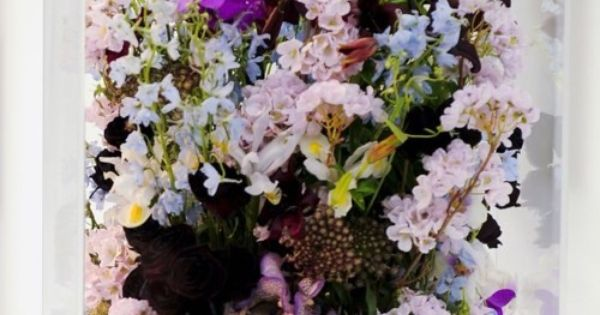 Jil Sander AW Runway flower boxes
