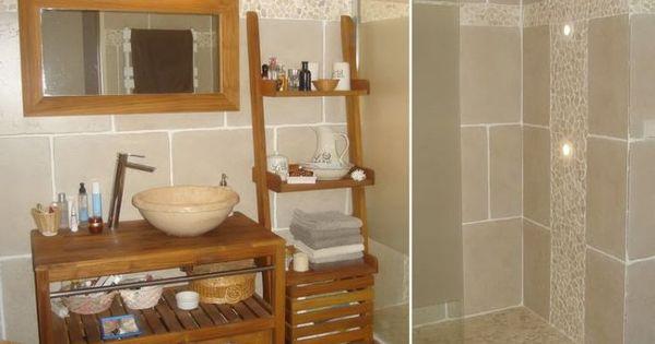 awesome Idée décoration Salle de bain - Bois et galets dans la ...