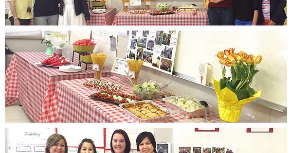 Italian theme luncheon | Teacher's Appreciation Luncheon ...