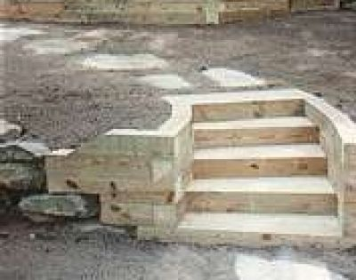 How to Build a Timber Retaining Wall Great look timber