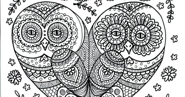 Owl Abstract Doodle Zentangle Paisley Coloring Pages