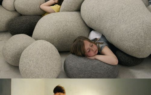 rock pillows! Great idea for a play room!! Or if we have