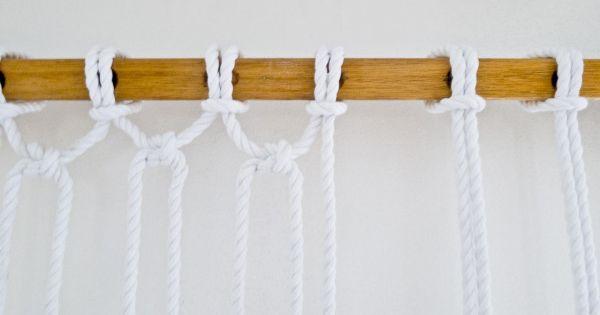 Make it modern diy two tone sail rope hammock rope hammock for Make a rope hammock