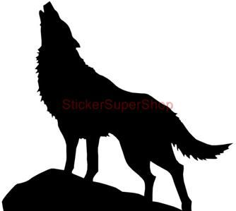 Choose Size Wolf Silhouette Decal Removable Wall Sticker Personalized W Name Wolf Silhouette Silhouette Art Animal Silhouette