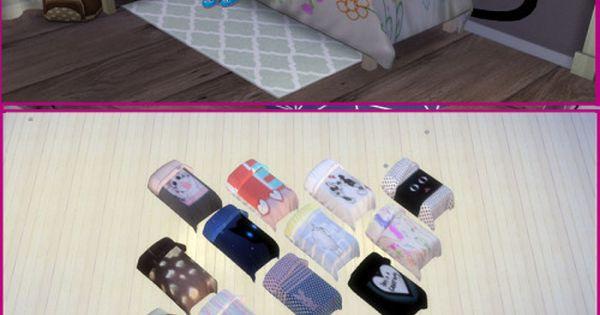 Enure Cute Blanket Single Bed At Enure Sims Sims 4 Updates Sims 4 Stuff Pinterest