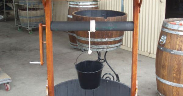 how to make a wine barrel fish pond