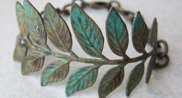 ☯☮ॐ American Hippie Bohemian Style ~ Boho Leaf bracelet