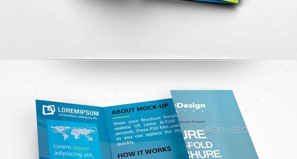 Square Gate Fold Brochure Mockup Brožúry, Photoshop a Dizajn - gate fold brochure mockup