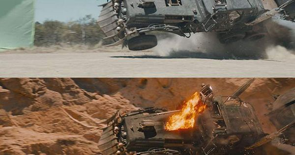 Before And After In Mad Max Fury Road Visual Effects Wordlesstech Mad Max Fury Road Mad Max Fury Road