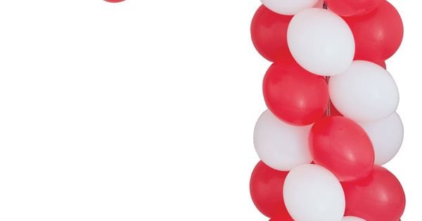 A classic christmas candy cane in red and white but for Candy cane balloon sculpture