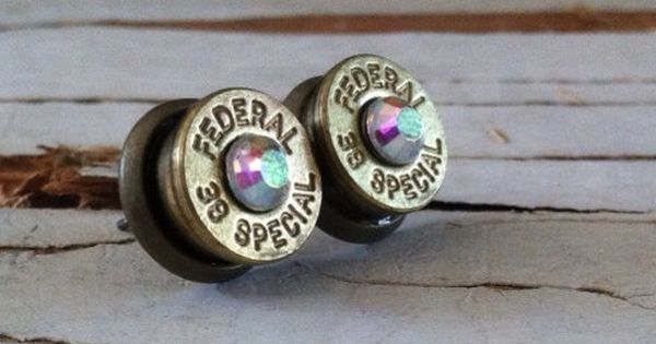 Change to cuff links? bullet earrings aurora borealis AB crystal studs bridesmaid