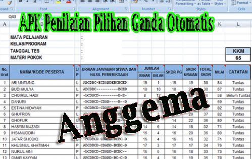 Download Aplikasi Analisis Soal Pilihan Ganda Otomatis 2019