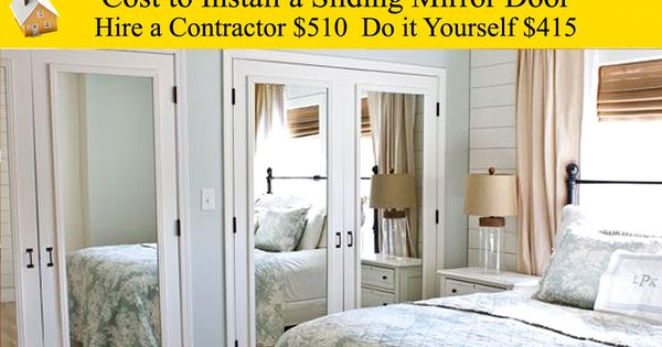 Cost To Install Sliding Mirror Door Make The Most Of A Closet With A