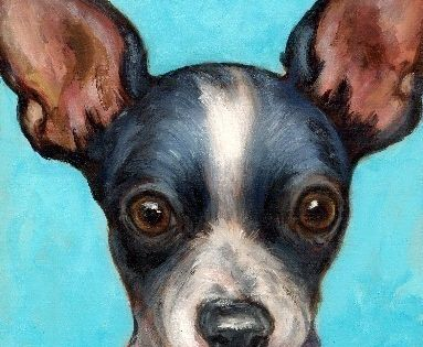 Chihuahua Dog Art Print Of Original Painting By Dottie Dracos