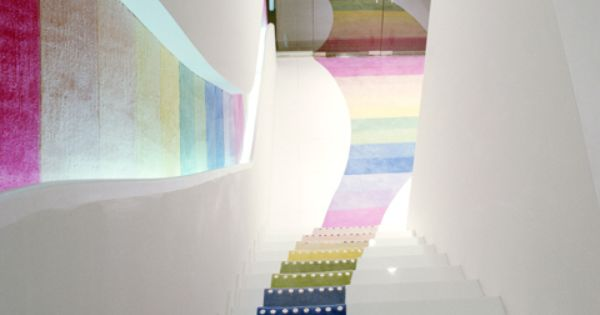 I would love to do this to stairs leading to a kids