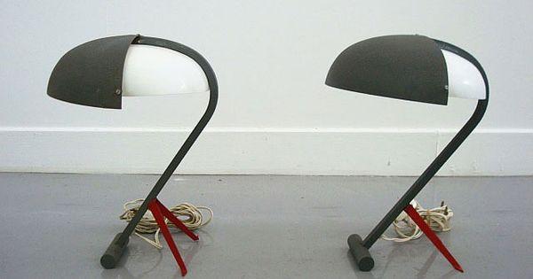 Tafellamp van louis kalff voor philips model nx