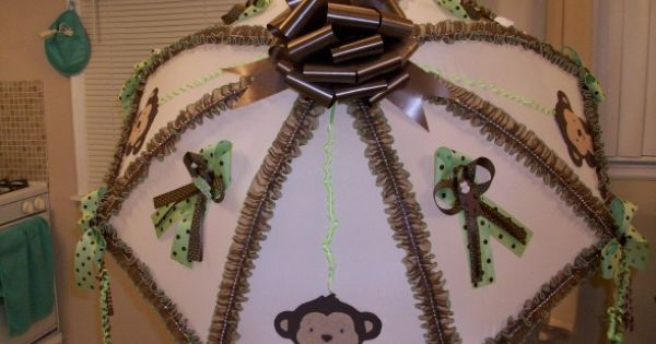 baby shower, Monkey theme baby shower, baby shower umbrella , Gift Ideas