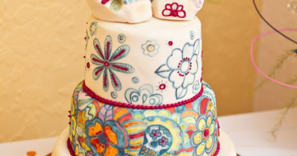 awesome sugar skull cake! Would work as my birthday cake since its