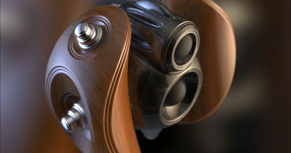 TIE Fighter style cordless speaker heads