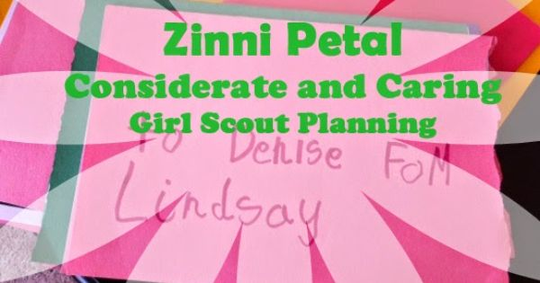 considerate and caring coloring page - girl scout daisy petal considerate and caring girl