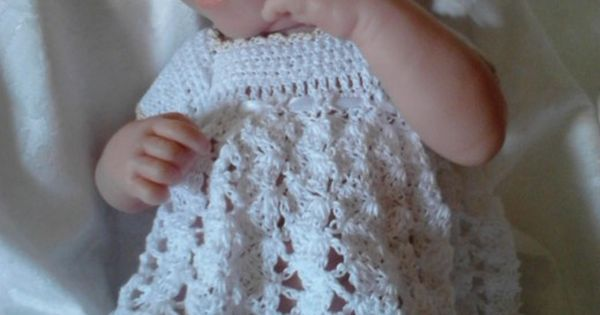 Free Crochet Pattern Preemie Clothes : Free Doll Crochet Thread Dress Gown Pattern for Berenguer ...