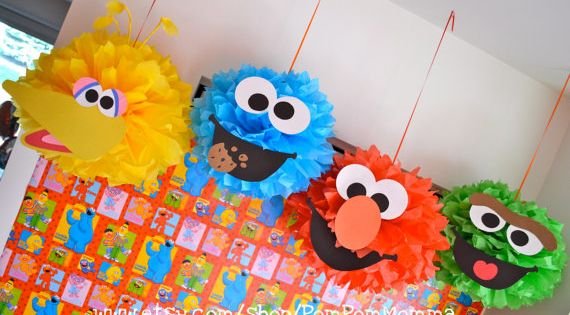 elmo party decorations