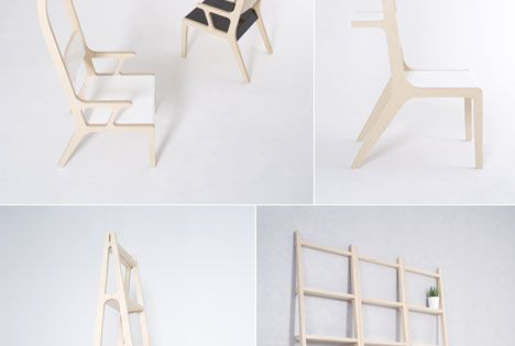 Designer Seung Yong Song's Space saving furniture multifunctional furniture design chair shelf