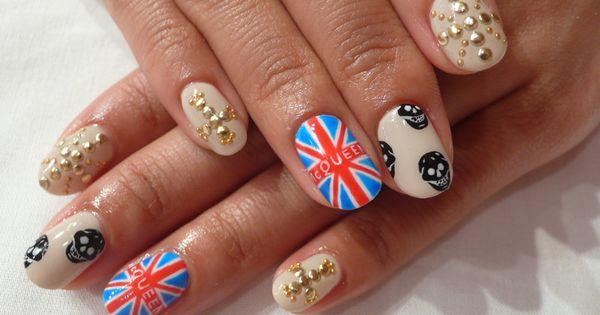 Alexander McQueen nail art