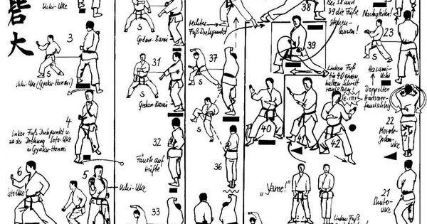 shorin ryu kata diagrams