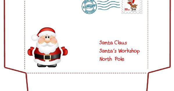 santa claus letter printable letter to santa claus envelope template 11808