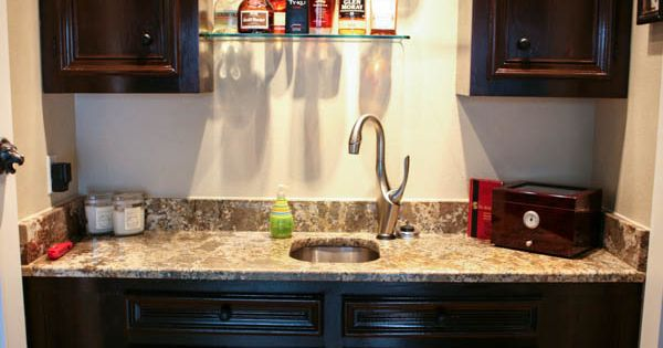 Home office and wet bar makeover by for Office wet bar