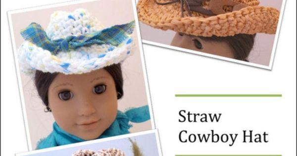 Crochet Raffia Cowboy Hat Pattern : Straw Cowboy Hat Crochet Pattern Crochet cowboy hats ...