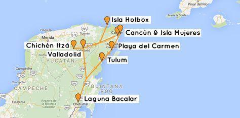 Backpacking Mexiko Yucatan Route Reisetipps Mexiko Yucatan