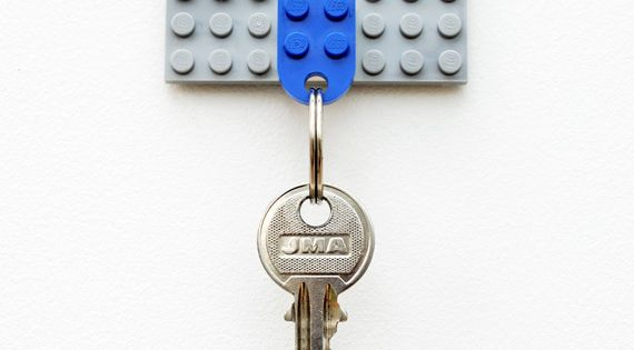 awesome key hanger lego idea