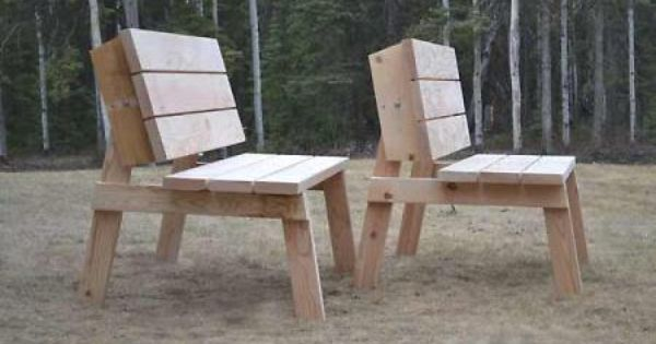 Picnic table turned benches love this idea thanks for Flip top picnic table plans