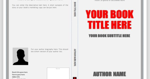 poetry chapbook template - cover templates for print use ms word to create