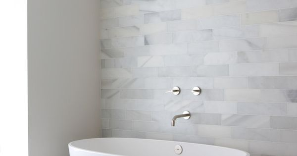 Modern Bathroom - love the gray tiles, would be great with a