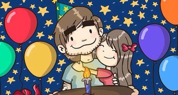 Feliz Aniversario Amor Frases: Feliz Cumpleaños Mi Amor. Hoy Es Un Día Muy Especial Para