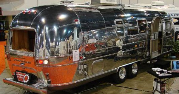 1970 Polished Airstream Vintage Airstream Airstream Tent Camping