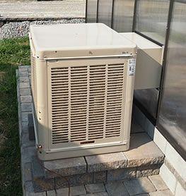 Evaporative Air Swamp Cooler Information For Air Conditioning Greenhouses Swamp Cooler Greenhouse Greenhouse Gardening