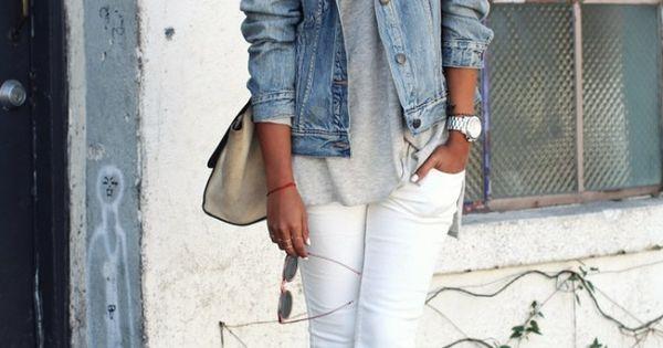 Jeansjacke kombinieren so sieht das trend teil an jeder for Jeansjacke kombinieren