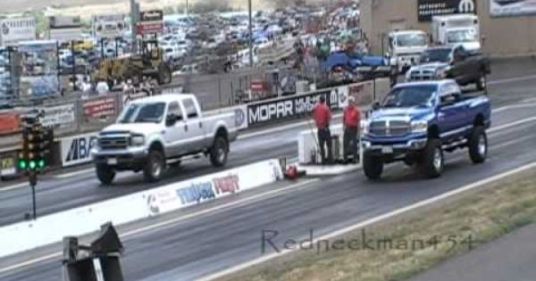 Drag Race Ford Powerstroke 7 3 With Mods Vs Stock Dodge Cummins Turbo Diesel 6 7 Youtube Ford Powerstroke Cummins Turbo Diesel Cummins Turbo