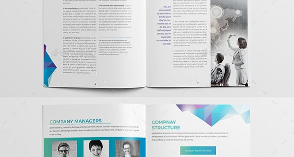 buy brochure templates - clean modern multipurpose brochure report template