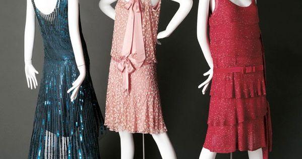 Three Chanel flapper/ art deco dresses, 1920s. Phoenix Art Museum
