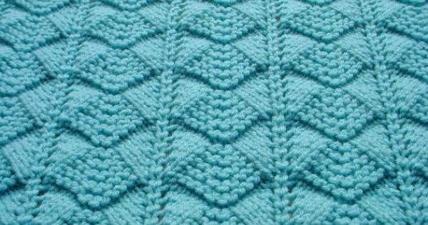 Hand Knit Baby Blanket Afghan In Light Aqua Blue