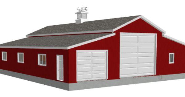 Red barn garage barn plan g258 45 x 30 10 sides 15 for Red barn plans