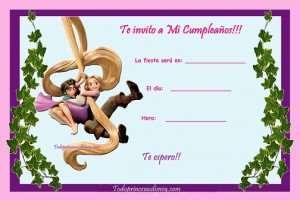 Invitacion Rapunzel Invitaciones De Cumpleaños Cumpleaños