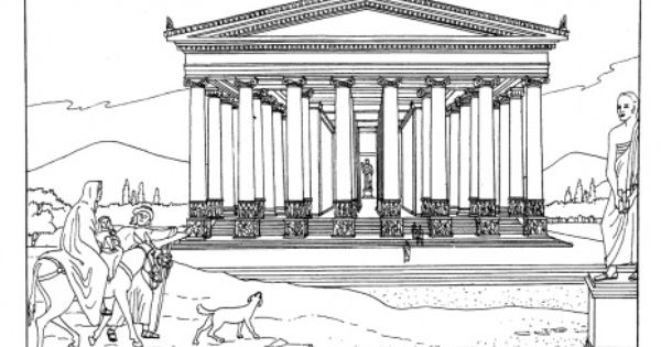 Temple Of Artemis At Ephesus Coloring Page Super Coloring Ancient World History Ancient History Wonders Of The World